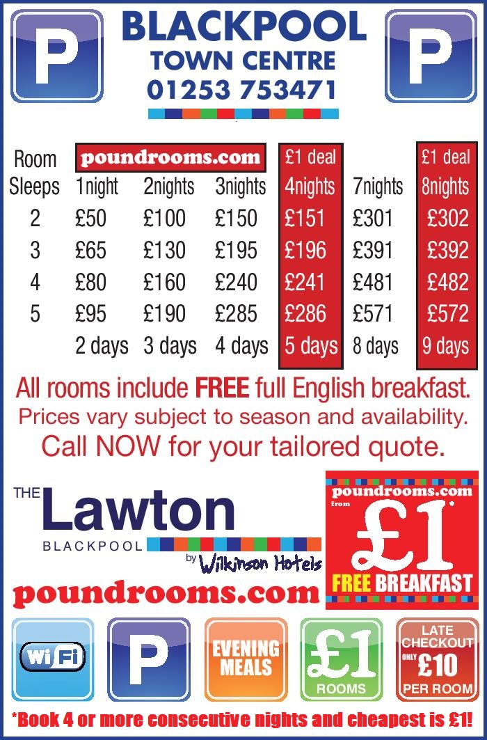 poundrooms tariff offer